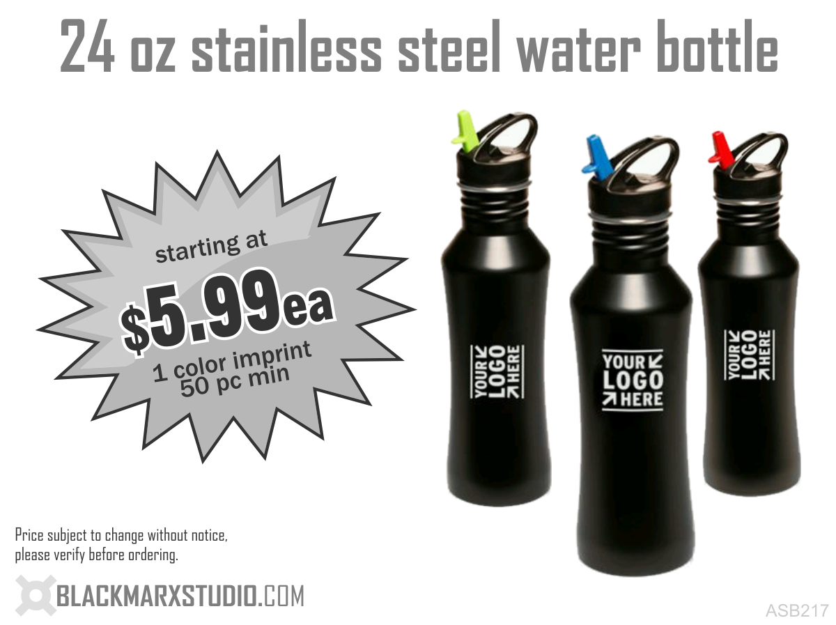 24 oz stainless steel water bottle